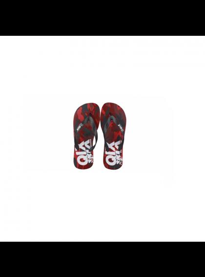 Chinelo Flip Flop QIX QIX0009 C1 Masculino Branco/Vermelho