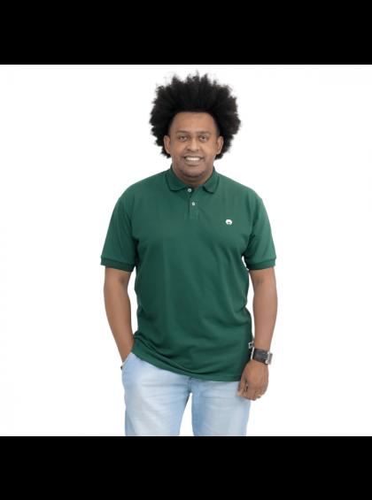 Camisa Polo Básica Verde Musgo