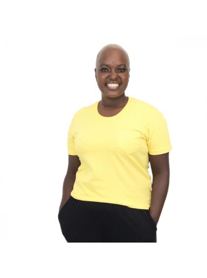 Camiseta Baby Bolso Amarela