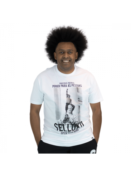 Camiseta Tradicional Panteras Negras Branca