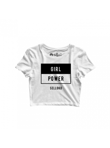 Cropped Girl Power Branco