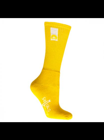 Meia Selloko  Colors 3/4 Amarela