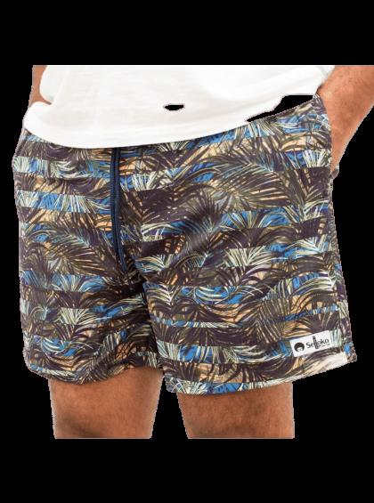 Shorts Havaiano Selloko Marrom