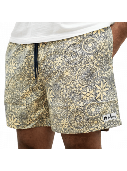 Shorts Indiano Selloko Amarelo