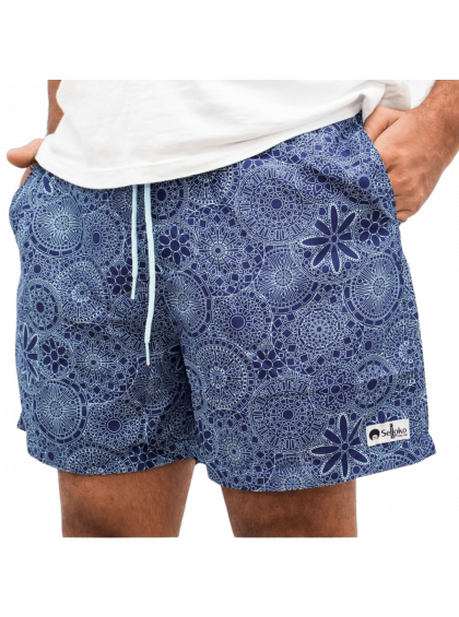 Shorts Indiano Selloko Azul