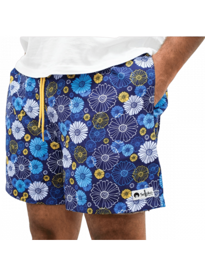 Shorts Selloko Flowers Azul
